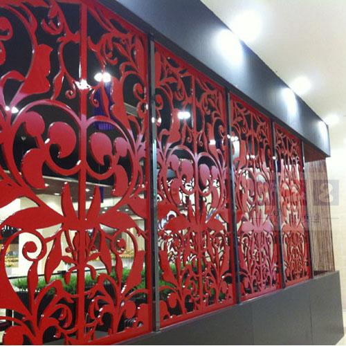 PVC烤漆花窗制作