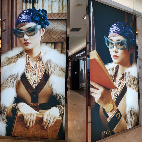 门店橱窗形象广告灯箱制作