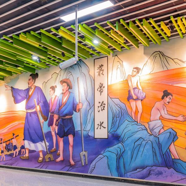 地铁主题墙