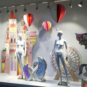 商场店铺橱窗装饰设计制作